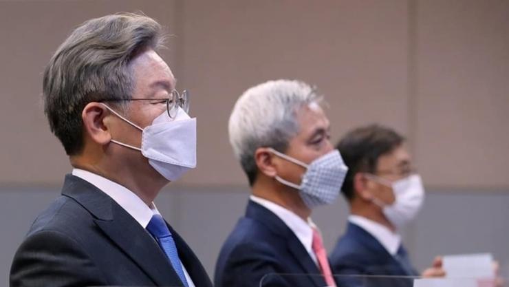 이재명 경기도지사, '후쿠시마 오염수 방류 규탄' 31개 경기도 시‧군 공동선언 발표